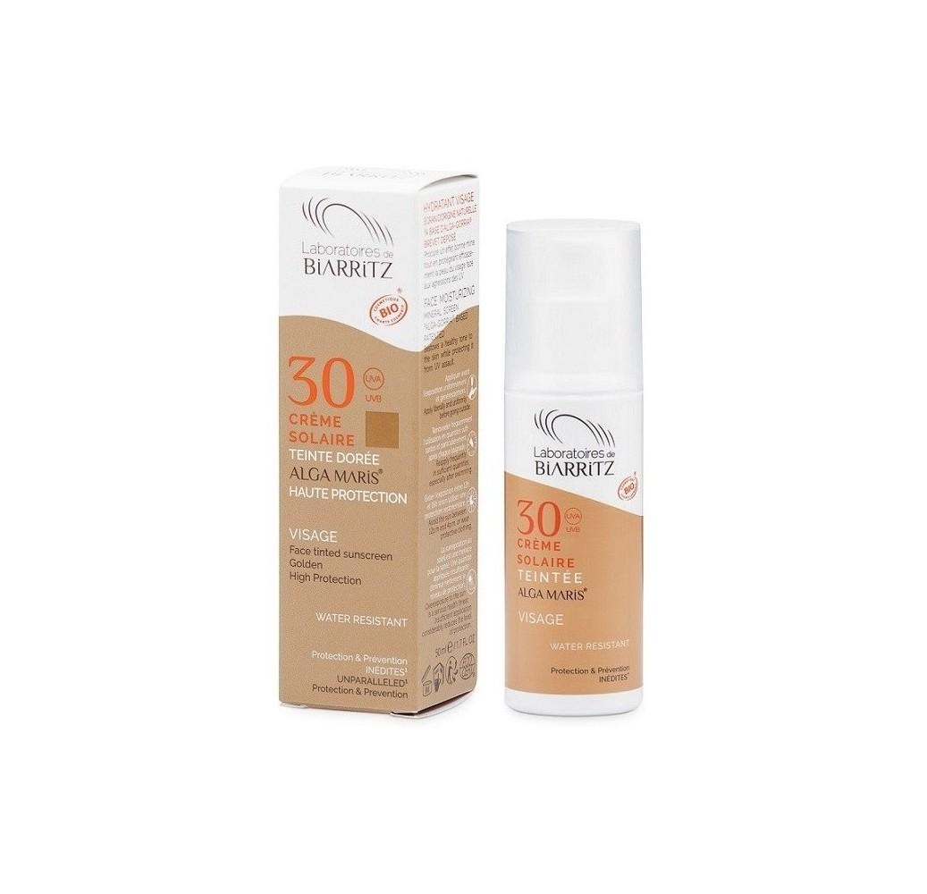 Crema facial solar - Color Golden SPF 30 - 50 ml