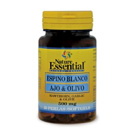 Espino blanco + Ajo + Olivo - 500 mg - 50 perlas