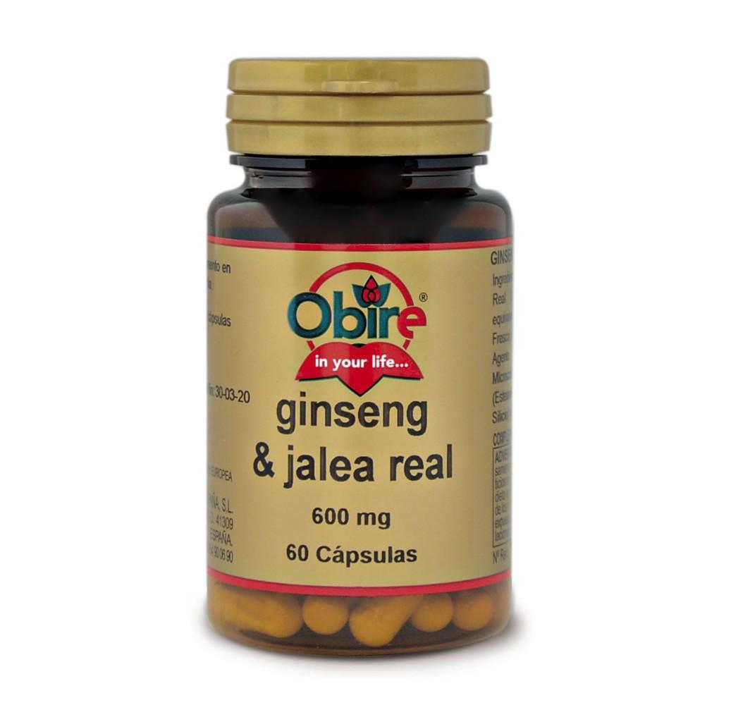 Ginseng & Jalea real - 600 mg - 60 cap.