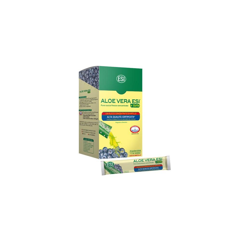 Aloe Vera - Zumo forte + mirtilo pocket drink - 24 sobres