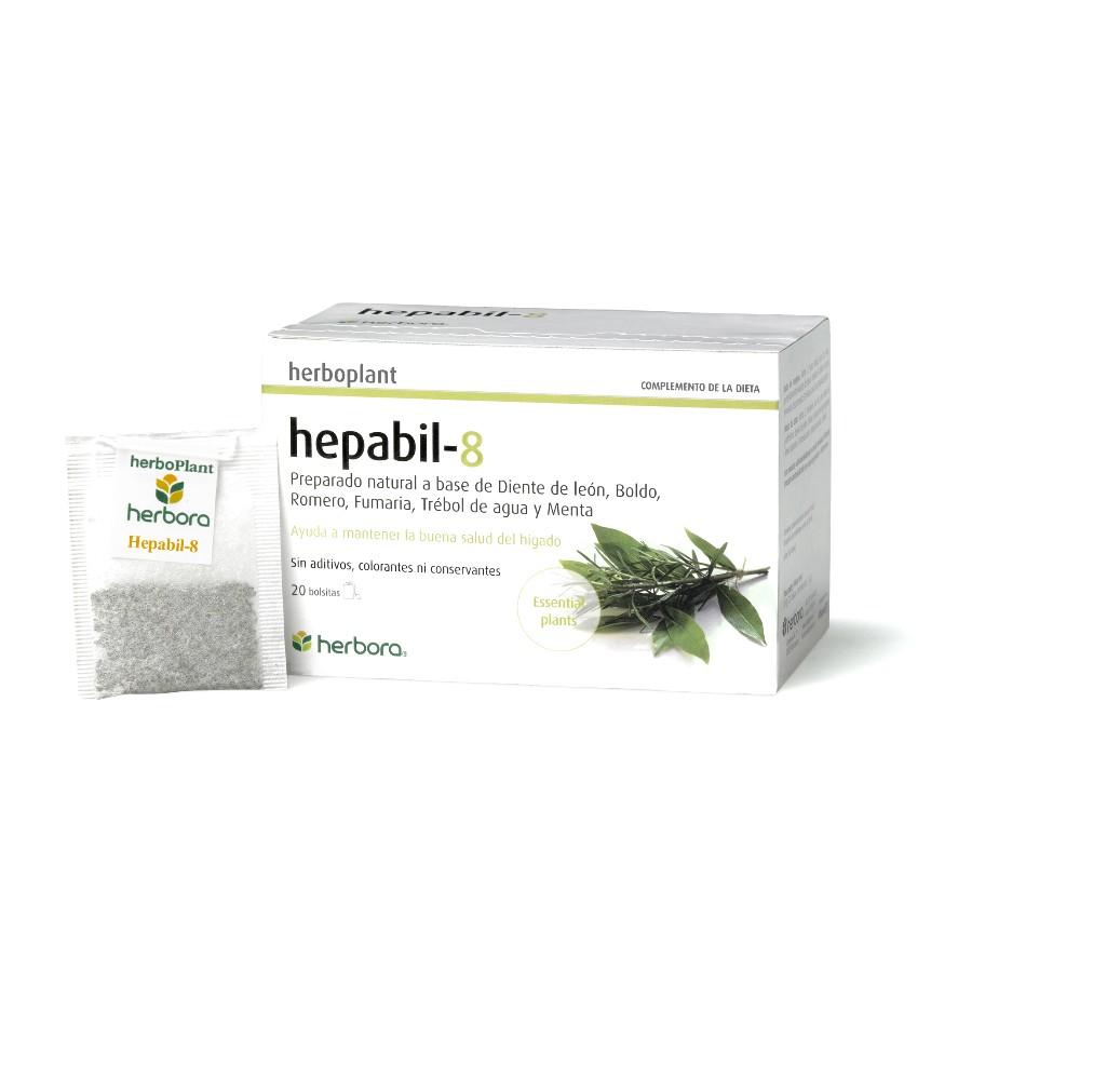 Herboplant - Hepabil-8 - 20 filtros de infusi