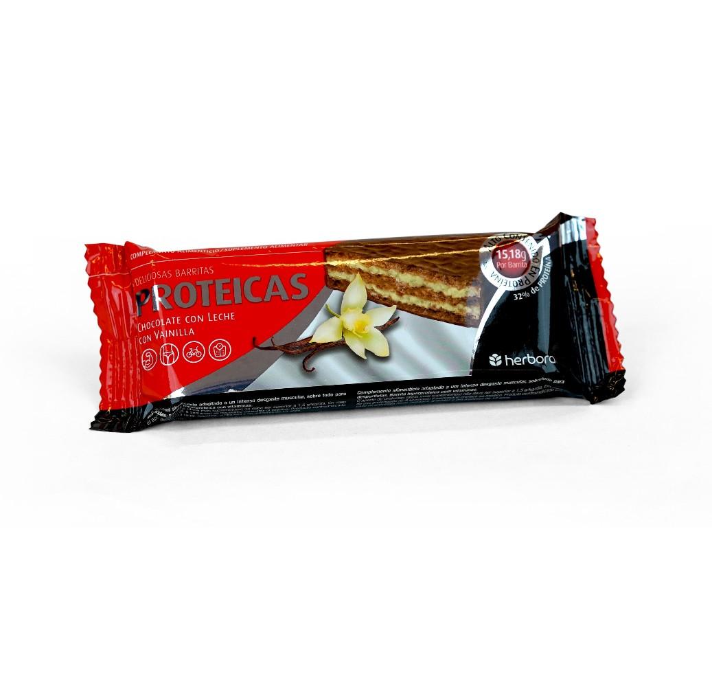 Barrita proteica chocolate con leche y vainilla - 47 g