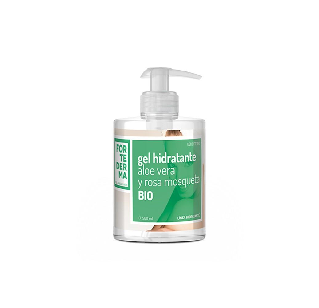 Fortederma - Gel hidratante aloe vera y rosa mosqueta BIO - 500 ml